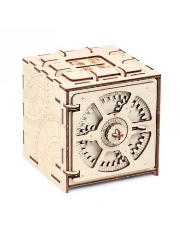 Wooden Model 3D Puzzle Cipher Code Deposit Box
