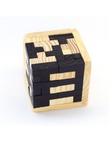 3d Wooden Puzzles Brain Teaser 54 T-Shaped Tetris Blocks Geometric Toy