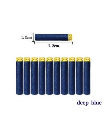100pcs Toy Gun Soft Refill Bullets Darts EVA Foam for Elite Series Dark Blue